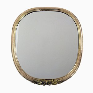 Specchio vintage con cornice in ottone, Austria, anni '20