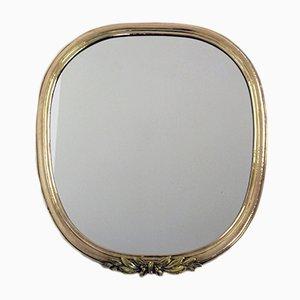 Vintage Austrian Mirror with Brass Frame, 1920s