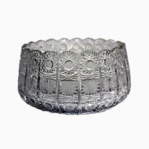 Antike Schale aus Bleikristallglas mit Sternschliff