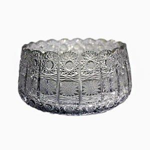 Antique Polished Lead Crystal Bowl