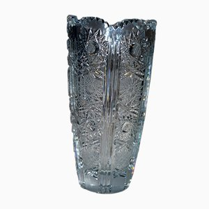 Antique Bohemian Lead Crystal Vase