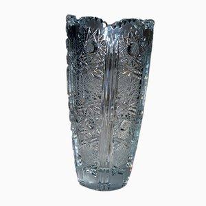 Vase Antique en Cristal de Bohème