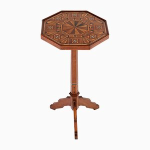 Dutch Mahogany Occasional Table with Inlay, 1900s