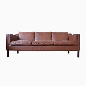 Vintage Danish Leather Sofa from Stouby Polster Møbelfabrik