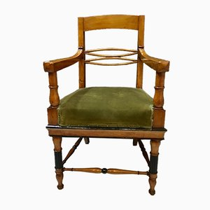 Antique Biedermeier Lounge Chairs, Set of 2