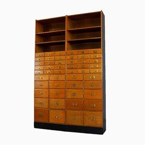 Mueble de mercería vintage de roble, años 30