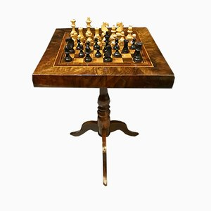 Antique Italian Chess Table