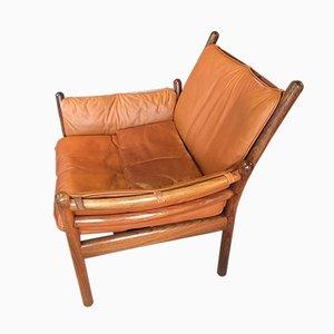 Genius Sessel aus Palisander & cognacfarbenem Leder von Illum Wikkelsø für CFC Silkeborg