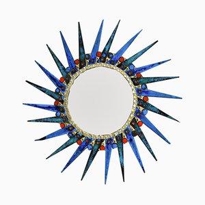 Espejo convexo en forma de sol de Vangeebergen, años 70