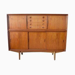 Mid-Century Teak Highboard from Clausen & Søn
