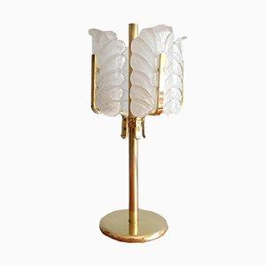 Lampe de Bureau en Feuille d'Acanthe par Carl Fagerlund pour Orrefors, Pays-Bas, 1950s