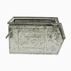 Caja de metal galvanizado, años 50