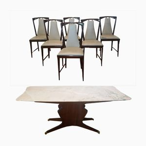 Dining Table with 6 Chairs by Osvaldo Borsani, 1950s