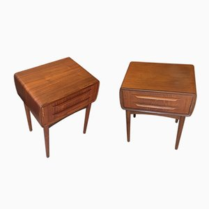 Teak Nightstands by Johannes Andersen for CFC Silkeborg, 1960s, Set of 2