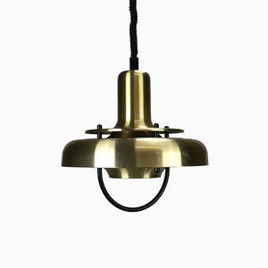 Dänische Vintage Deckenlampe aus Metall