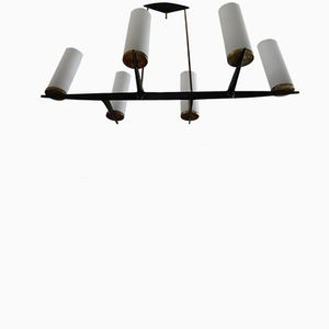 Cylinders Chandelier from Arlus, 1950s