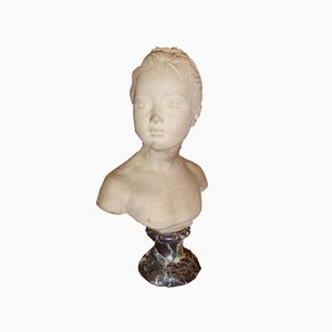 Buste Antique en Terracotta par Houdon