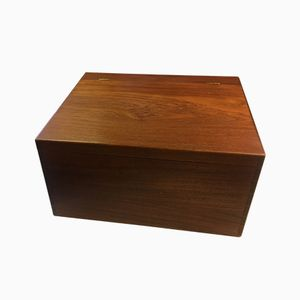 Danish Teak Wall Hanging Desk or Box, 1950s