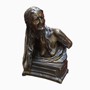 Antique Bronze Sibilla Sculpture by Vincenzo Gemito