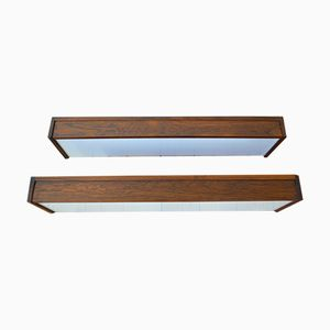 Rosewood Wall Light Units by Kai Kristiansen for FM Møbler, 1960s, Set of 2
