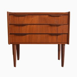Mid-Century Three-Drawer Teak Chest