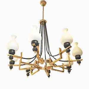 Mid-Century Italian Chandelier from Stilnovo, 1950s