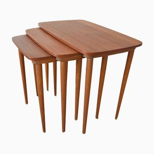 Mid-Century Teak Nesting Tables, Set of 3