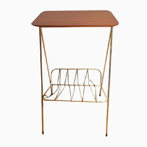 Side Table with Magazine Rack, 1960s