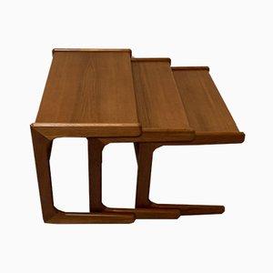 Tavolini ad incastro vintage in teak, anni '70