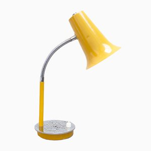 Lampada da tavolo Flexo vintage gialla, anni '60