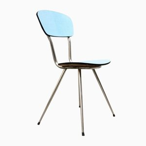 Vintage Blue Formica Chair, 1950s