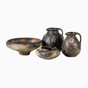 Conjunto de cerámica vintage de Ruscha, años 70