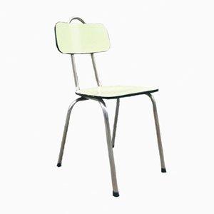 Chaise Vintage en Formica Jaune