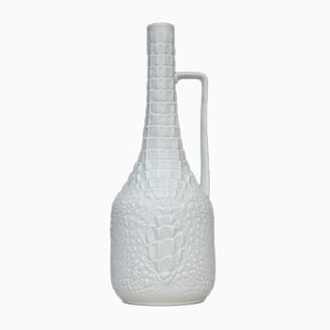 Vase aus Biskuitporzellan in Reptil-Optik von AK Kaiser, 1970er