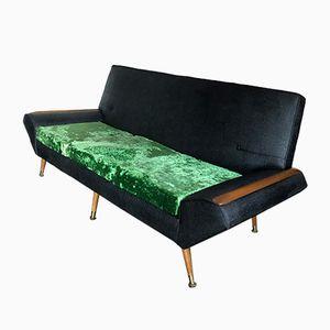 Mid-Century Sofa aus Vinyl und Samt, 1960er