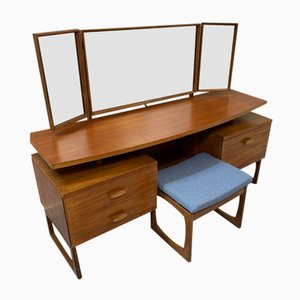 Vintage Dressing Table with Stool from G-Plan