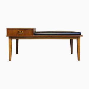 Mid-Century Teak Telephone Table or Bench
