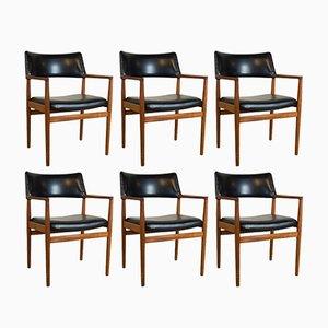 Dänische Esszimmerstühle aus Teak von Erik Kirkegaard für Glostrup, 1960er, 6er Set