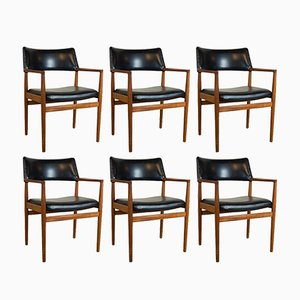 Danish Teak Dining Chairs by Erik Kirkegaard for Glostrup, 1960s, Set of 6