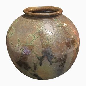 Jarrón de cerámica de Aldo Zama, años 40