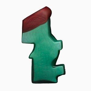 Blaugrüne und kastanienbraune Shifting Shape Vase von Jonatan Nilsson, 2017