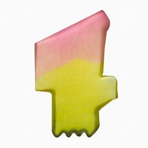 Shifting Shape Vase in Rosa/Gelb von Jonatan Nilsson, 2017