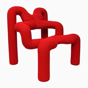 Red Extreme Chair by Terje Ekstrøm for Stokke, 1970s