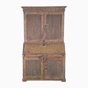 Antiker gustavianischer Sekretär mit schilfbedeckten Türen, 1790er
