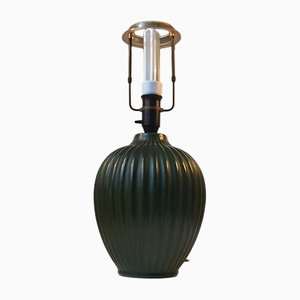 Green Ceramic Table Lamp by Michael Andersen, 1930s