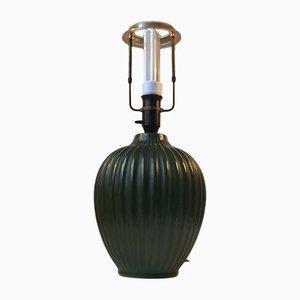 Lampada da tavolo in ceramica verde di Michael Andersen, anni '30