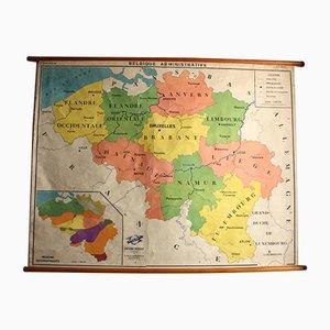 Vintage Landkarte der Benelux-Länder, 1960er