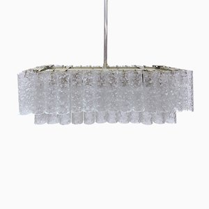Murano Ice Glass Chandelier from Doria Leuchten, 1960s