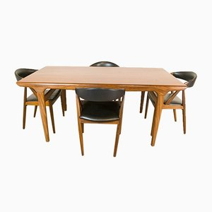 Dining Table and 4 Chairs by Johannes Andersen and Kai Kristiansen for Uldum Møbelfabrik, 1960s