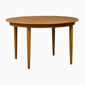Mesa extensible danesa vintage de roble